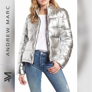 🆕ANDREW MARC NEE YORK Metallic Puffer Jacket